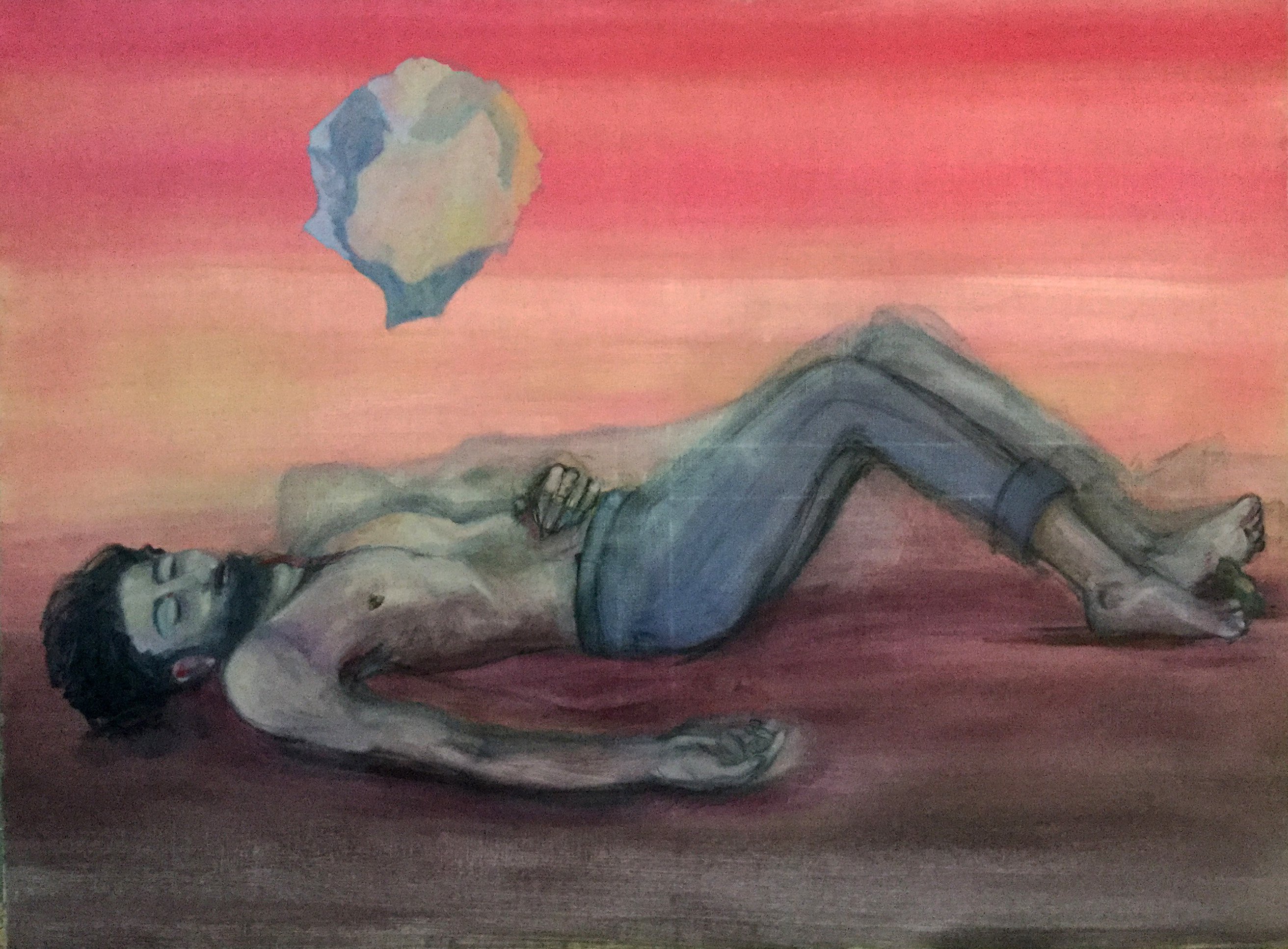 """Farhad"" huile sur toile, 90 x 130 cm"