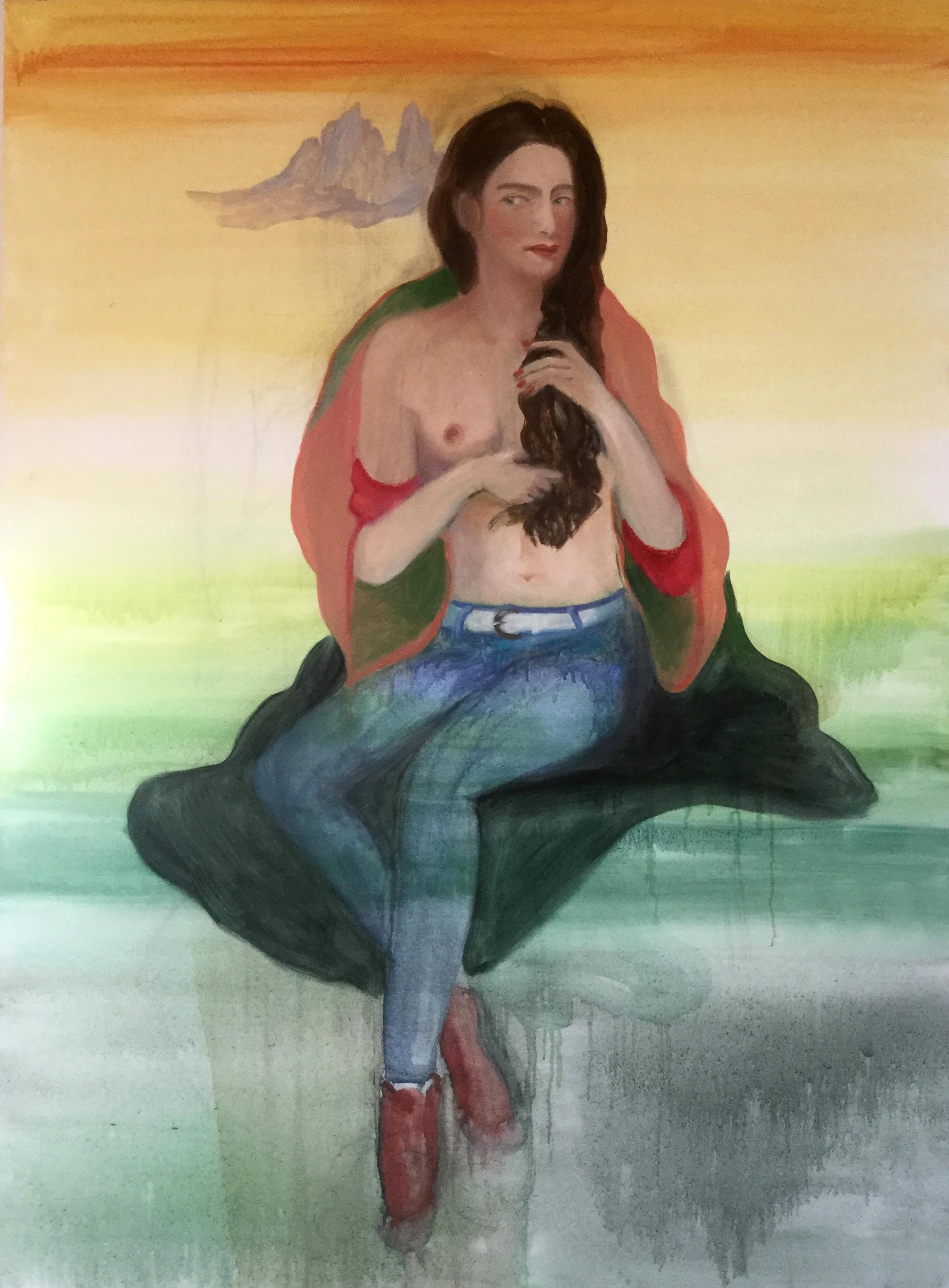 Shirine, l'huile sue toile, 90 x 130 cm